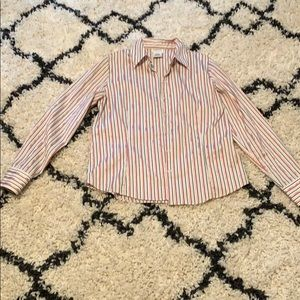 Women's striped dress shirt. Ladies medium.